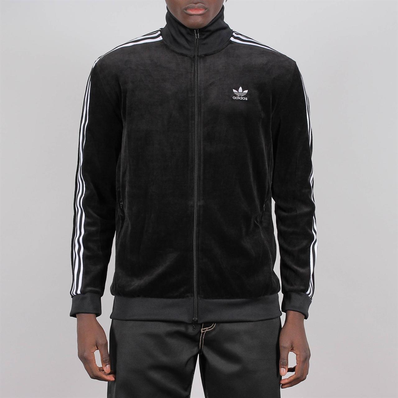 new concept e3eb1 c6149 adidas originals cozy velour tracktop black dx3626