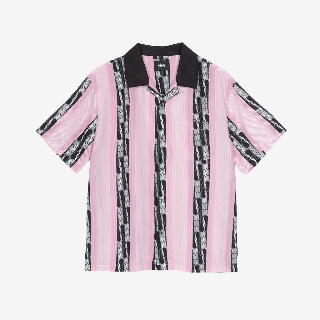 Stussy Deco Striped Shirt Pink (1110118-PINK)