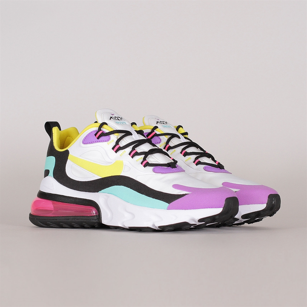 Details about NIKE WOMENS Air Max 270 React White, Violet & Pink AT6174 101