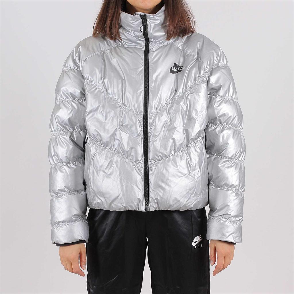 Shelta Nike Womens Synthetic Down Puffer Jacket Metallic Silver (BV3