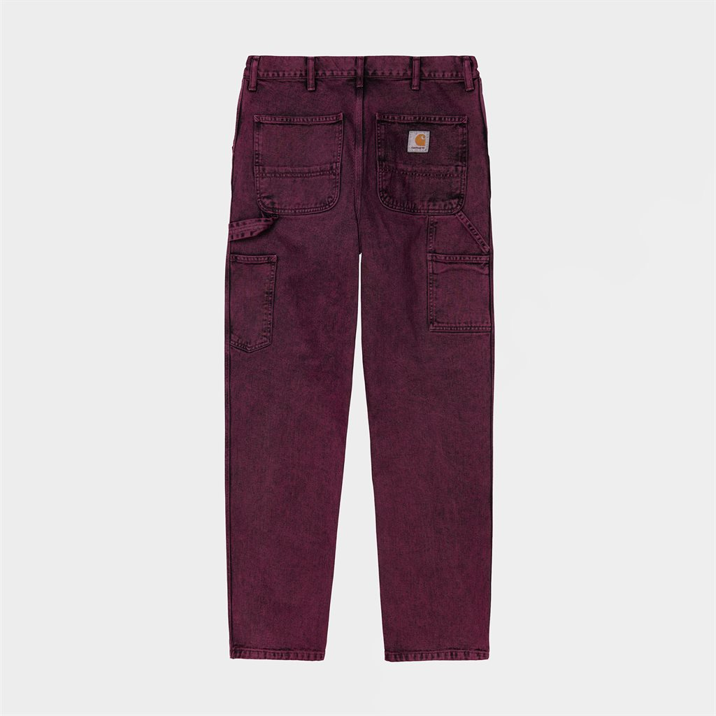 Carhartt WIP Single Knee Denim Pant Shiraz Crater Wash (I029153-08L-ZF)