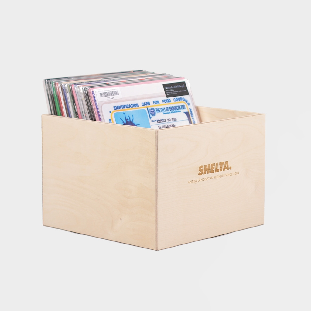 Shelta Vinyl Record Crate Birch Plywood (SHEBACK)