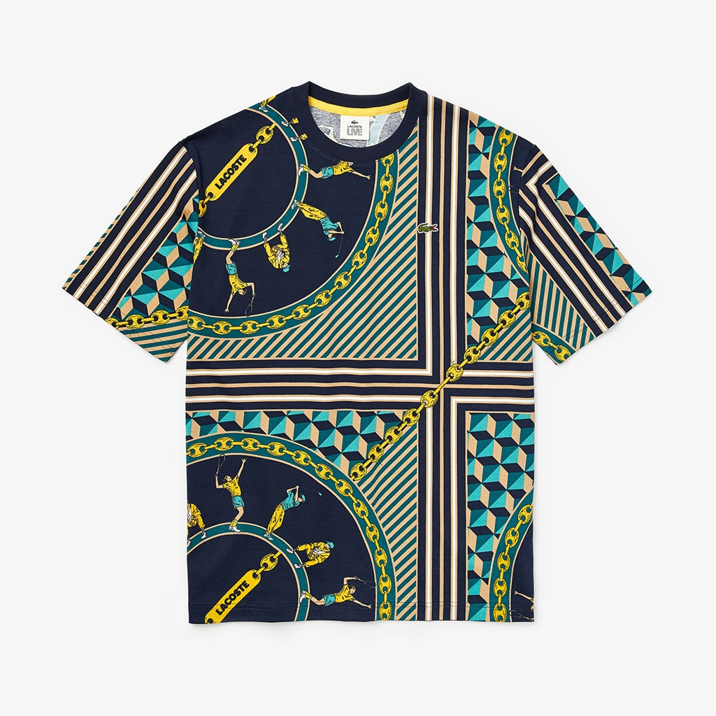 Lacoste L!VE Scarf T-shirt (TH4370-00-QRN)