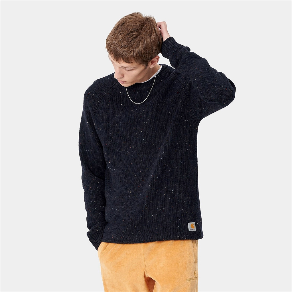 Carhartt WIP Anglistic Sweater Navy (I010977-DNH)