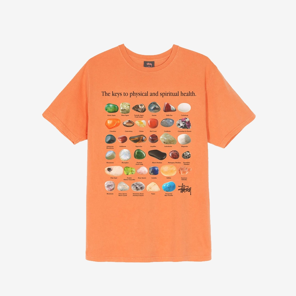 Stussy Stones Pig. Dyed Tee Neon Orange (1904557-NOR)
